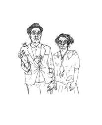 Protese, Anzug, Arm, Edding auf papier