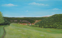 Landschaft malerei, Hainsberg, Rabenau, Landschaft