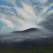 Island, Sonnenuntergang, Acrylmalerei, Neskaupstadur