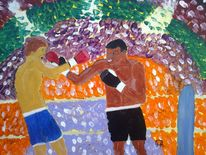 Sport, Menschen, Boxen, Abstrakte malerei