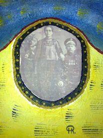 Abstrakte malerei, Brautpaar, Bessarabien, Malerei