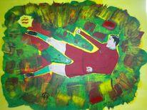 Abstrakte malerei, Sport, Menschen, Comic