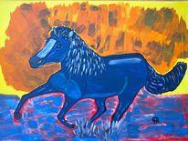 Pferde, Fantasie, Abstrakte malerei, Tiere