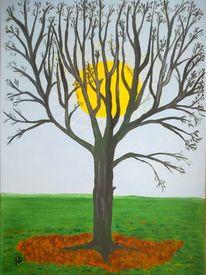 Abstrakte malerei, Baum, Landschaft, Malerei