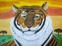Abstrakte malerei, Tiere, Malerei, Siesta