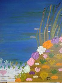 Fantasie, Pflanzen, Abstrakte malerei, Unterwasserlandschaft