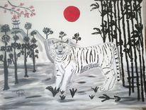 Fantasie, Abstrakte malerei, Landschaft, Tiere