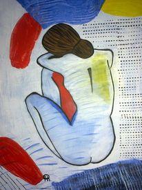 Abstrakte malerei, Frau, Menschen, Malerei