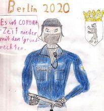Funkgerät, Polizei, Wappen, Uniform