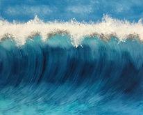 Acrylmalerei, Welle, Malerei abstrakt, Wasser