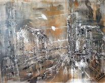 Malerei, Braun, Kutche, Stadt