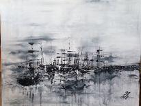 Weiß, Meer, Schiff, Segel