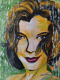 Romy schneider, Acrylmalerei, Portrait, Malerei
