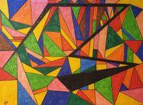 Abstrakt, Bunt, Zeichnung, Zeichnungen