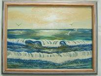 Meer, Strand, Ölmalerei, Malerei