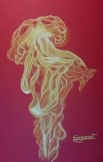 Flammen, Licht, Feuer, Malerei