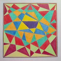 Geometrie, Komplementärfarbe, Abstrakt, Zeichnungen