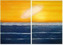 Fantasie, Meer, Himmelskörper, Malerei
