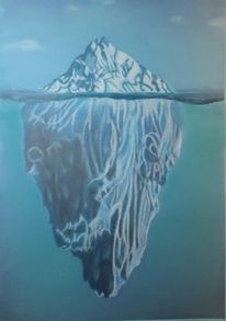 Eisberg, Eis, Wasser, Zeichnungen