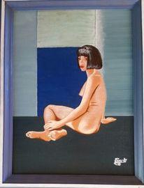 Meer, Frau, Akt, Malerei