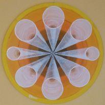 Rohr, Perspektive, Symmetrie, Malerei