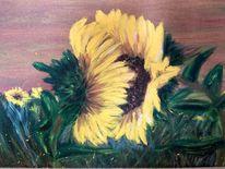 Liebe, Sonnenblumen, Malerei,