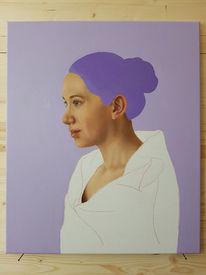 Portrait, Fotorealismus, Ölmalerei, Menschen