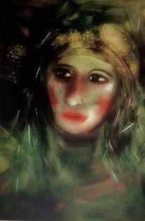 Haare, Glanzpunkte, Portrait, Gesicht