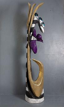 Schnitzkunst, Figur, Skulptur, Abstrakt