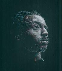 Afrika, Pastellmalerei, Portrait, Zeichnungen