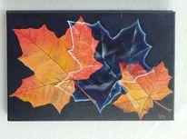 Ahornblätter, Ahorn, Blätter, Malerei