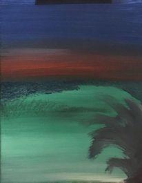 Acrylmalerei, Ruhe, Einsamkeit, Urlaub