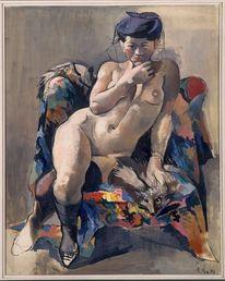 Malerei, Menschen, Akt, Ölmalerei