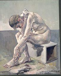 Ölmalerei, Portrait, Rolfmariakoller, Akt