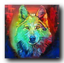 Lupus, Farben, Design, Acrylmalerei