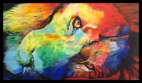Tiere, Bund, Acrylmalerei, Wild