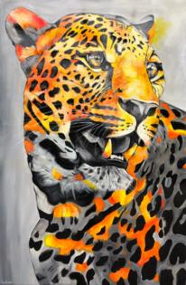 Abstrakt, Gemälde, Raubtier, Katze