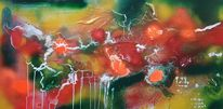 Abstrakt, Grün, Bunt, Malerei