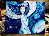 Weiß, Engel, Malerei