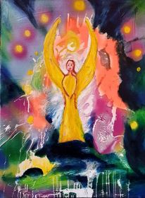 Licht, Treue, Engel, Malerei