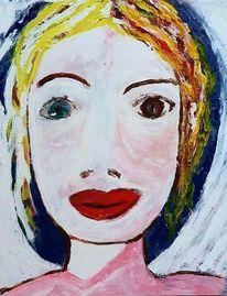 Blond, Acrylmalerei, Kind, Malerei