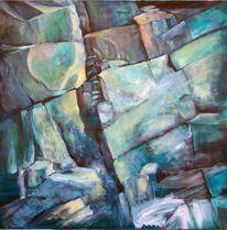 Acrylmalerei, Malerei, Eifel, Abbruch