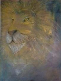 Tierblick, Tiere, Wildtiere, Pastellmalerei