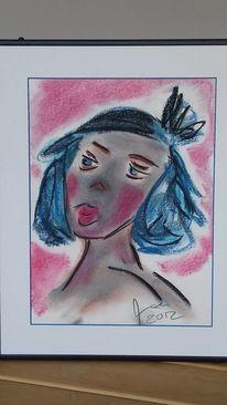 Pastellmalerei, Portrait, Kräftig, Zeichnungen
