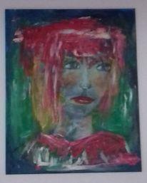 Ursprünglich, Stark, Acrylmalerei, Frau