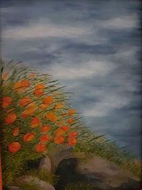 Wind, Blumen, Himmel, Malerei