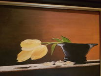 Tulpen, Gelb, Schale, Malerei
