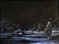 Landschaft, Tuareg, Nacht, Wüste