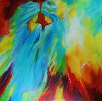Fantasie, Acrylmalerei, Sahara, Frau
