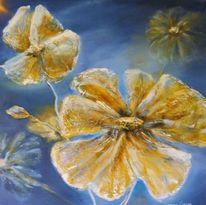 Blumen, Sommer, Frühlingsblumen, Mischtechnik